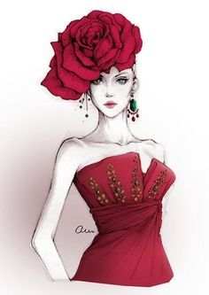 In love with this illustration! Dior RTW F/W 2007 - by Alex Tang