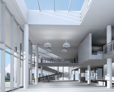 Italcement lab by Richard Meier Modern Architecture House, Futuristic Architecture, Modern Buildings, Modern Houses, Office Buildings, Richard Neutra, Richard Meier, Zaha Hadid Architects, Architect Design