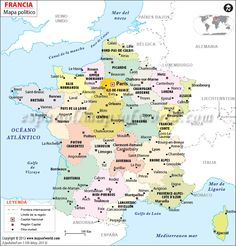 Political map of France illustrates the surrounding countries with international borders, 27 regions boundaries with their capitals and the national capital. France City, France Map, South Of France, France Travel, Canterbury, Versailles Paris, Map Of Great Britain, Petite France, Viajes