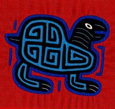 Mola Turtle - Simply Stellar Kuna Indian Reverse Applique