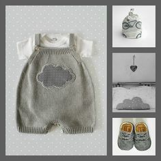 inmyclosetgr: Knitted overall Baby Booties Knitting Pattern, Baby Knitting Patterns, Baby Patterns, Kids Dress Clothes, Baby Born Clothes, Baby Kids, Baby Boy, Baby Mickey, Knitting For Kids