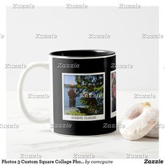 Shop Photos 3 Custom Square Collage Photo Two-Tone Coffee Mug created by camcguire. Personalize it with photos & text or purchase as is! Personalised Gifts Unique, Customizable Gifts, Unique Gifts, Best Gifts, Collage Photo, Picture Description, Unique Photo, Custom Photo, Morning Coffee