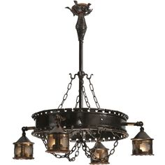 "40 Inch W Antique Gothic 4 Lantern Chandelier - Custom Made. 40 Inch W Antique Gothic 4 Lantern Chandelier Theme:  RUSTIC VICTORIAN GOTHIC Product Family:  Antique Gothic Product Type:  CEILING FIXTURE Product Application:  CHANDELIER Color:   Bulb Type: MED Bulb Quantity:  4 Bulb Wattage:  100 Product Dimensions:  44""H x 40WPackage Dimensions:  48.000L x 42.000W x 48.000HBoxed Weight:  34 lbsDim Weight:  NAOversized Shipping Reference:  TRUCKIMPORTANT NOTE: Most of our items are unique…"