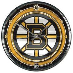 Boston Bruins Round Chrome Wall Clock