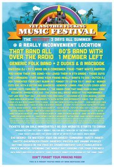 Afisul tipic de festival de muzica :))