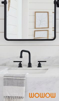 The solid brass material performs better compared to other metallic finishes to avoid rust and corrosion issues.High quality design and easy maintenance make this black bathroom faucet perfect for any modern bathroom. #Wowow #BlackBathroomFaucet Matte Black Bathroom Faucet, Black Bathtub, New Bathroom Designs, Modern Bathroom, Bathroom Hardware, Bathroom Fixtures, Bathroom Inspiration, Design Inspiration, Black Shower