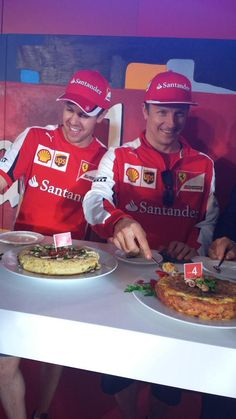 """Raikkonen:""""Here try some, Seb and I made it ourselves!"""""""