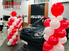 Inauguration of Isuzu Pasig Visit their new office located at E. Rodriguez Jr. Ave. Cor Calle Industria, Brgy. Bagumbayan, Quezon City (near Eastwood Libis) #balloondecorsPasig #balloonsPasig #balloonscarshowroom #shairishballoons #inauguration Balloon Pillars, Quezon City, Party Needs, Balloon Decorations, Jr, Balloons, Store, Globes, Larger