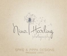 Premade Logo and Watermark for Photographers and Small Business Owners.via Etsy.