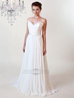 Sheath Ruffled Sweetheart Wedding Dress with Draped Skirt