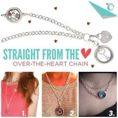 Origami Owl Over-the-heart-chain <3.  So many ways to wear it!  Order at whitneygoble3.origamiowl.com