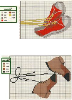 Converse Shoes x-stitch