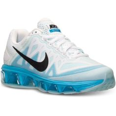 Nike Women's Air Max Tailwind 7 Running Sneakers from Finish Line ($110) ❤ liked on Polyvore featuring shoes, athletic shoes, nike shoes, nike, athletic running shoes, cushioned shoes and nike footwear