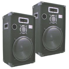 Podium Pro E1500C PA DJ Karaoke Home Pro Audio 15-inch Three Way Speaker Pair E1500C-PR