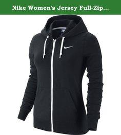 Nike Women's Jersey Full-Zip Hoodie Black/White Small. NIKE WOMENS JERSEY FULL-ZIP HOODIE #614829-010.