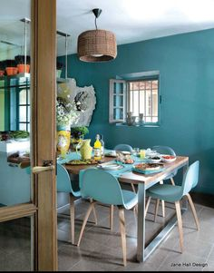 Eclectic Style Dining Room...