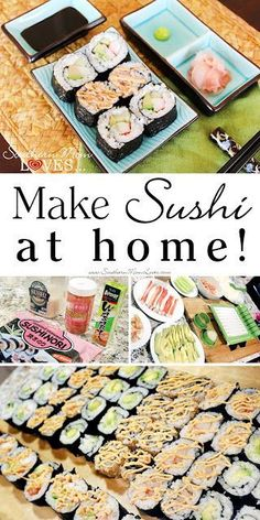 With this healthy sushi rice recipe you can add fun and creativity to create other sushi flavors that you love! What about fusion style sushi or scrumptious California? What's your sushi roll? Enjoy et bon appétit! Sushi Kit, Diy Sushi, Sushi Party, Sushi Ideas, How To Make Sushi, Food To Make, Make Your Own Sushi, Oshi Sushi, Sushi Roll Recipes