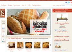 La Brea Bakery - Website design, custom WordPress development.
