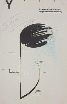 Jayne Hertko (MFA 1987) Yale Symphony Orchestra Organizational Meeting Poster, 1986