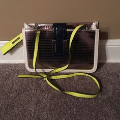 "Fun Calvin Klein Crossbody Bag!! Super fun ""disco ball"" Crossbody bag with neon detail from Calvin Klein!! This is lightly used, but has mostly been sitting in my closet. Make me an offer!! Calvin Klein Bags Crossbody Bags"