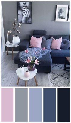 Bedroom Design On A Budget, Living Room Decor On A Budget, Living Room Decor Colors, Living Room Paint, Living Room Grey, Bedroom Colors, Home Living Room, Bedroom Decor, Colorful Living Rooms