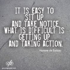 Get up and Take Action