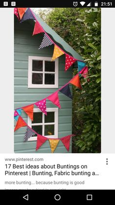more bunting. because bunting is good Make Bunting, Bunting Garland, Fabric Bunting, Bunting Ideas, Diy Garden Bunting, Bunting Flags, Fabric Crafts, Sewing Crafts, Sewing Projects