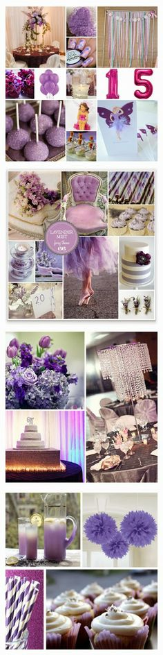 Lavender Fairy Sweet Fifteen Theme #quinceanera