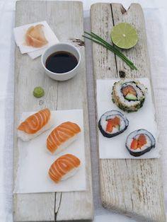 Nigiri sushi, Maki sushi, Sashimi og sushi ris