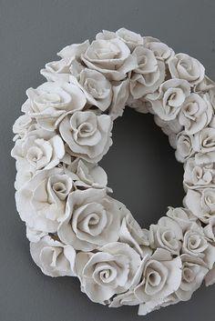 Ceramic Rose Wreath More