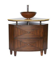 Pic Of  Onyx Counter Top Verdana corner Shape vessel sink vanity Model QCR