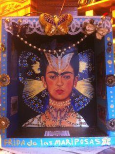 Frida de las Mariposas a Retablo by Barbara J