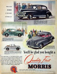  The Morris Motor Company of Cowley, Oxford was a British manufacturer of cars and lorries. Retro Cars, Vintage Cars, Taxi, Morris Oxford, Car Websites, Ad Car, Morris Minor, Best Classic Cars, Car Posters