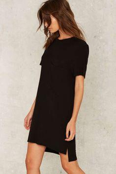 I'm Not Okay Pocket Dress - Clothes   Casual Dresses   Black Dresses