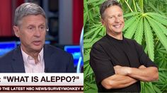 """Presidential Candidate Gary Johnson Asks MSNBC """"What Is Aleppo?"""" #WhatIs..."""