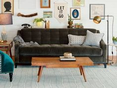 what to do with a gray couch