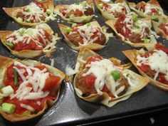 Wonton Turkey Meatball Cups