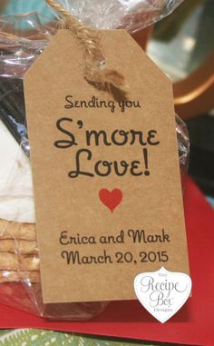 Smore wedding favor, Smore labels, Smore tag, Smore tags, Smore label, rustic wedding favor, Smore Love, 100 Tags Only for your S'mores by RecipeBox on Etsy https://www.etsy.com/listing/161226124/smore-wedding-favor-smore-labels-smore