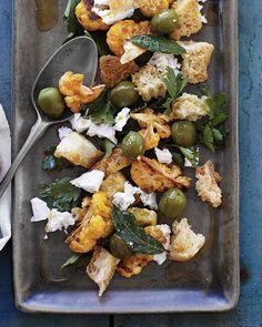 Roasted Cauliflower & Bread Salad via Sweet Paul Magazine #SweetPaul #Cauliflower