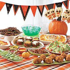 Halloween Party Menu for Birthdays Parties
