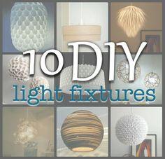Simply Living: 10 diy light fixtures