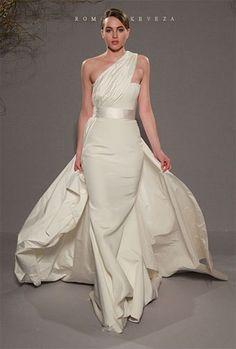 Dressed like a Greek goddess