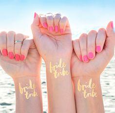 Tatuajes temporales en la despedida de soltera