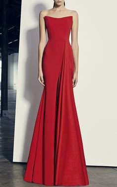 Alex Strapless Drape Gown by ALEX PERRY for Preorder on Moda Operandi