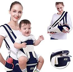 4-in-1 Portable Ergonomic Carrier packback Front and Back Cool MESH for Summer Baby Carrier Sling for Infants and Toddlers Navy Blue