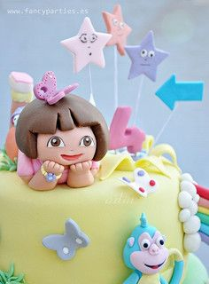 Dora the Explorer Birthday Cake 04