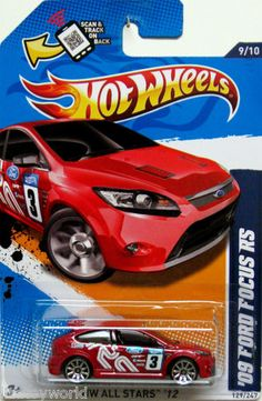 2009 Ford Focus RS Hot Wheels 2012 ALL STARS #9/10 red