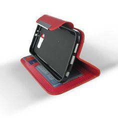 Samsung Galaxy S6 Red Flip Leather Case