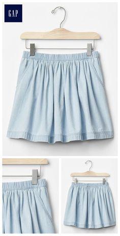 1969 denim flippy skirt