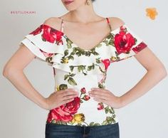 Lo nuevo en Kami Sewing Blouses, Creation Couture, Pinterest Fashion, Blouse Vintage, Dress Patterns, Diy Clothes, Blouse Designs, Blouses For Women, Floral Tops